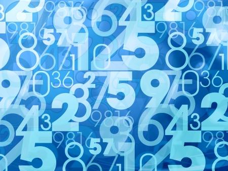 bleu abstrait numéros de fond Banque d'images