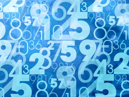 number code: blue abstract numbers background Stock Photo