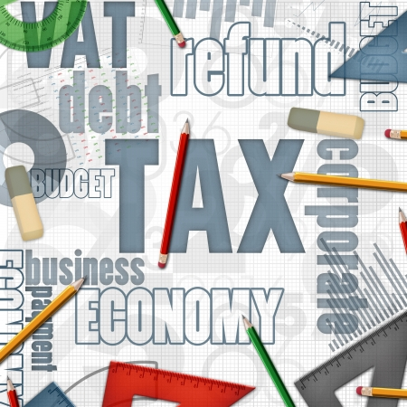 taxation: tax financial business background illustration