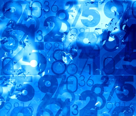random: blue fresh cool numbers background illustration Stock Photo