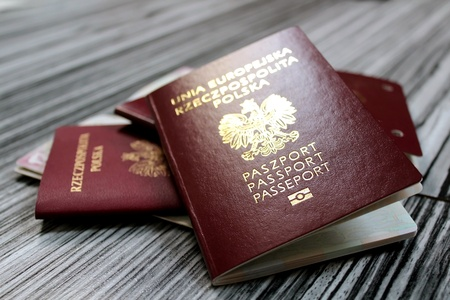 europe passports on elegant gray  background Zdjęcie Seryjne - 21214352
