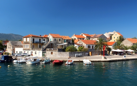 Hvar Island in Croatia, Vrboska city - Beautiful landscape of Dalmatia