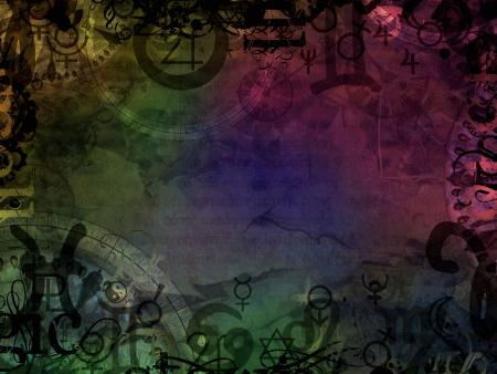 ésotérique magique fond coloré astrologique