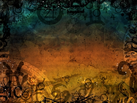 heaven and hell magic dark background illustration