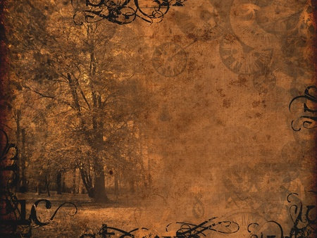melancholy autumnal dark brown background