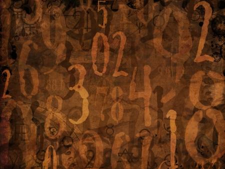 magic book numbers brown background illustration Zdjęcie Seryjne