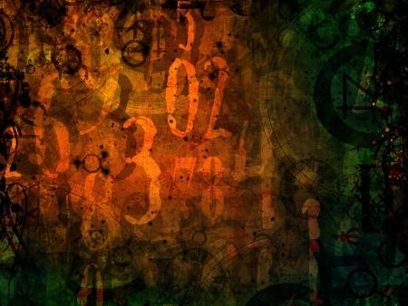 numéros de magie astrologie illustration de fond sombre