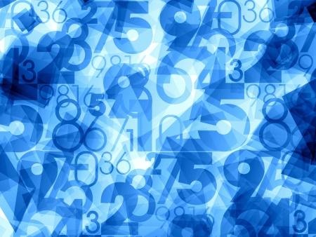 Numéros bleu de lumière abstraite fond Banque d'images