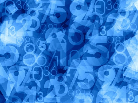 numbers background: Abstract blue numbers background