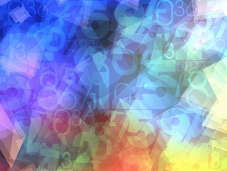 calculations: colorful abstract numbers background texture