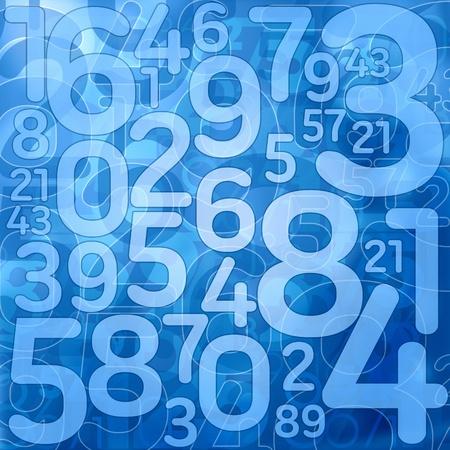 blue number science background illustration