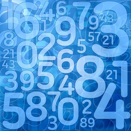 blue number science background illustration