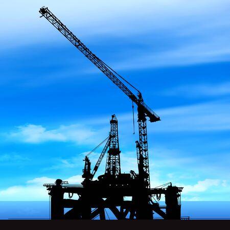 shipyard on blue sky background illustration illustration
