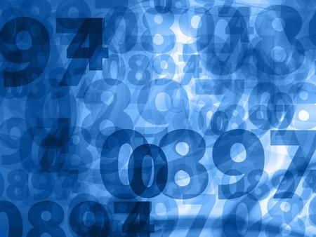 bleu foncé nombres aléatoires texture de fond