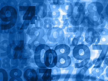 dark blue random numbers background texture