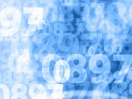 light blue random numbers background texture Stock Photo
