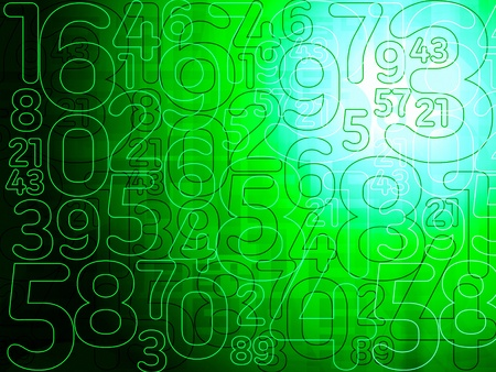 numbers abstract: green matrix abstract numbers background illustration