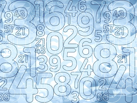 numbers abstract: abstract delicate blue numbers background illustration