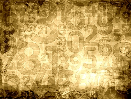 old numbers sepia texture or background illustration Reklamní fotografie