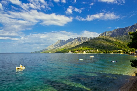 zaostrog - beautiful dalmatian adriatic village in south croatia Stock Photo
