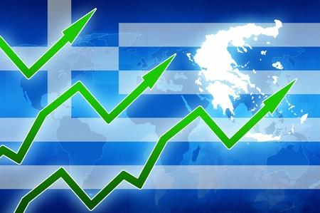 prosperity: Greece finance prosperity concept news background illustration