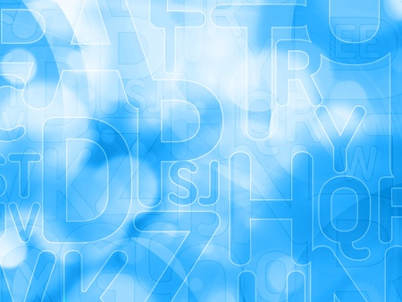 abstract letters: abstract blue texture background with letters