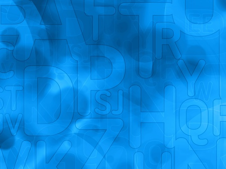 abstract letters: abstract random dark blue background texture with letters Stock Photo