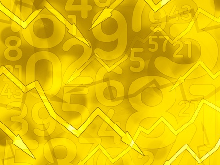 abstract math yellow arrows background illustration