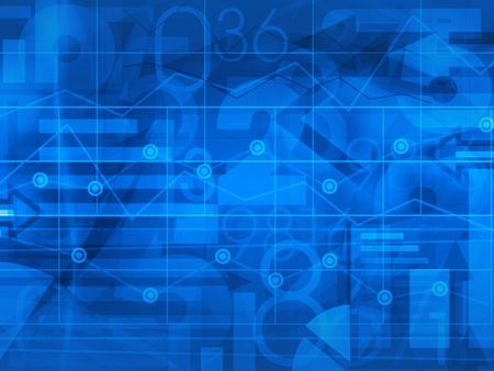 graph: financial business blue background illustration Stock Photo
