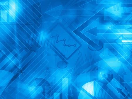 contabilidad financiera: los datos de color azul corporativo extracto fondo ilustración financiera