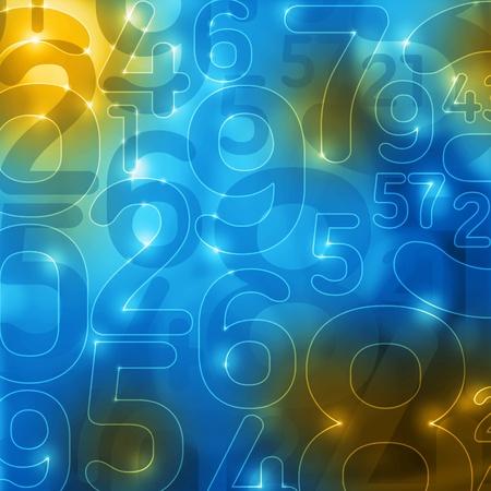 numéros bleu éclatant jaune abstraite cryptage fond