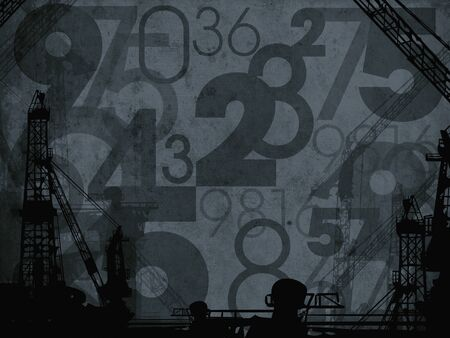 dark industrial numbers abstract background texture