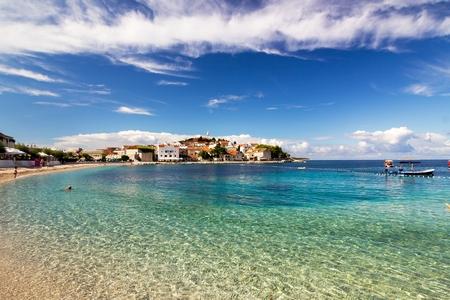 towns: Adriatic Sea Town of Primosten Landscape, Dalmatia Croatia