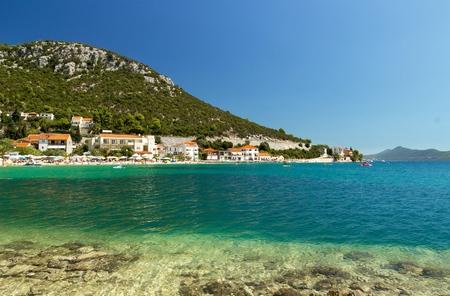 bosnia hercegovina: Beautiful beach in Croatia, Klek resort near Bosnia and Hercegovina Stock Photo