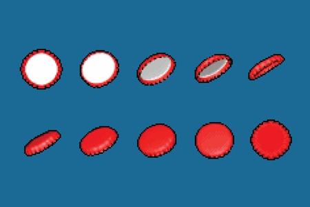 Bottle cap flip animation frames, vector illustration Ilustracja