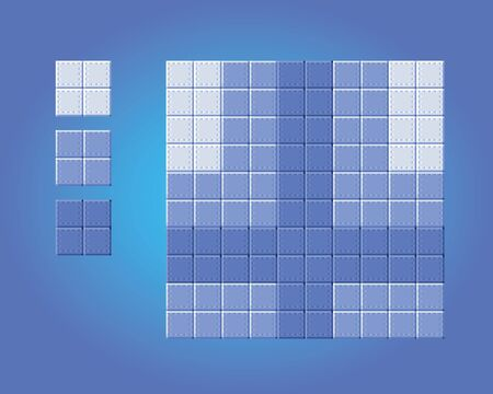 background floor game tiles - pixel art style isolated vector illustration