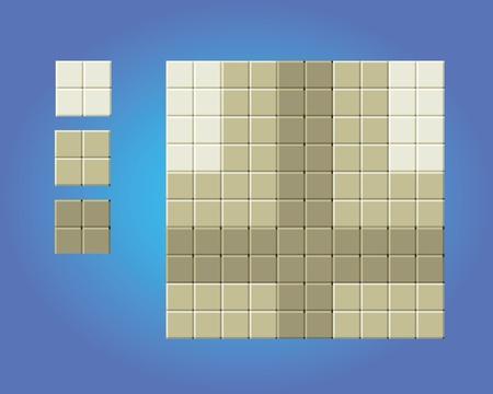 floor game tiles - pixel art style isolated vector illustration