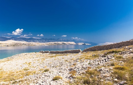 Dry Stone Walls on the beautiful Island of Pag, Croatia, Europe