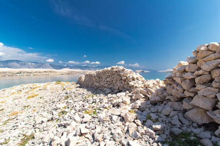 Stone Walls on the Island of Pag, Croatia, Europe Reklamní fotografie