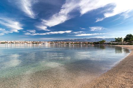Novalja landscape on the island of Pag, Croatia