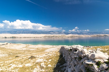 Stone Walls on the beautiful Island of Pag, Croatia, Europe Zdjęcie Seryjne