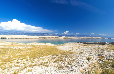Croatian Island of Pag, beautiful summer landsacpe