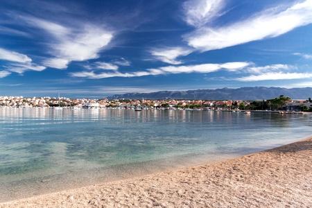 Novalja town summer landscape, Pag island, Croatia Zdjęcie Seryjne
