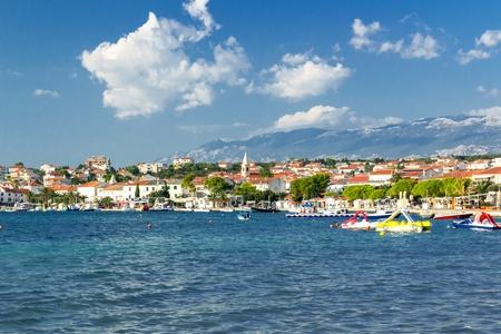 Town of Novalja landscape view, Island of Pag, Croatia, Europe Zdjęcie Seryjne