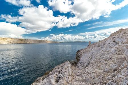 Beautiful Pag island sea landscape, Croatia Zdjęcie Seryjne