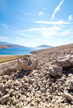 Rucica beach view on the island of Pag in Croatia, Europe