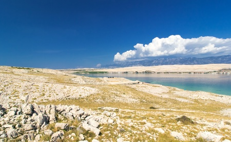 Typical landscape of Island of Pag, Croatia, Europe