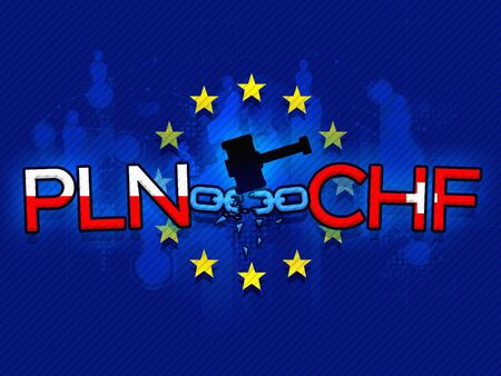 European Union tribunal verdict on PLN loans indexed to CHF, news background illustration