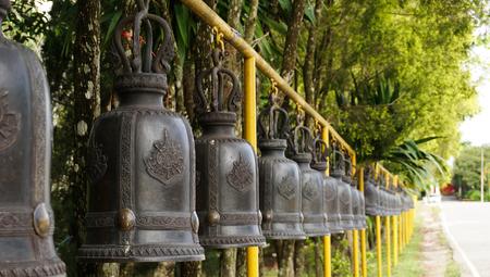 Bells in Buddhism temple, Thailand Standard-Bild