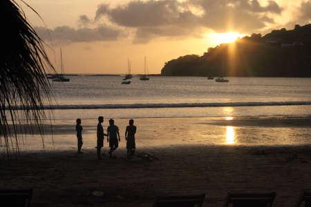 san juan: sunset at the beach in San Juan Del Sur, Nicaragua
